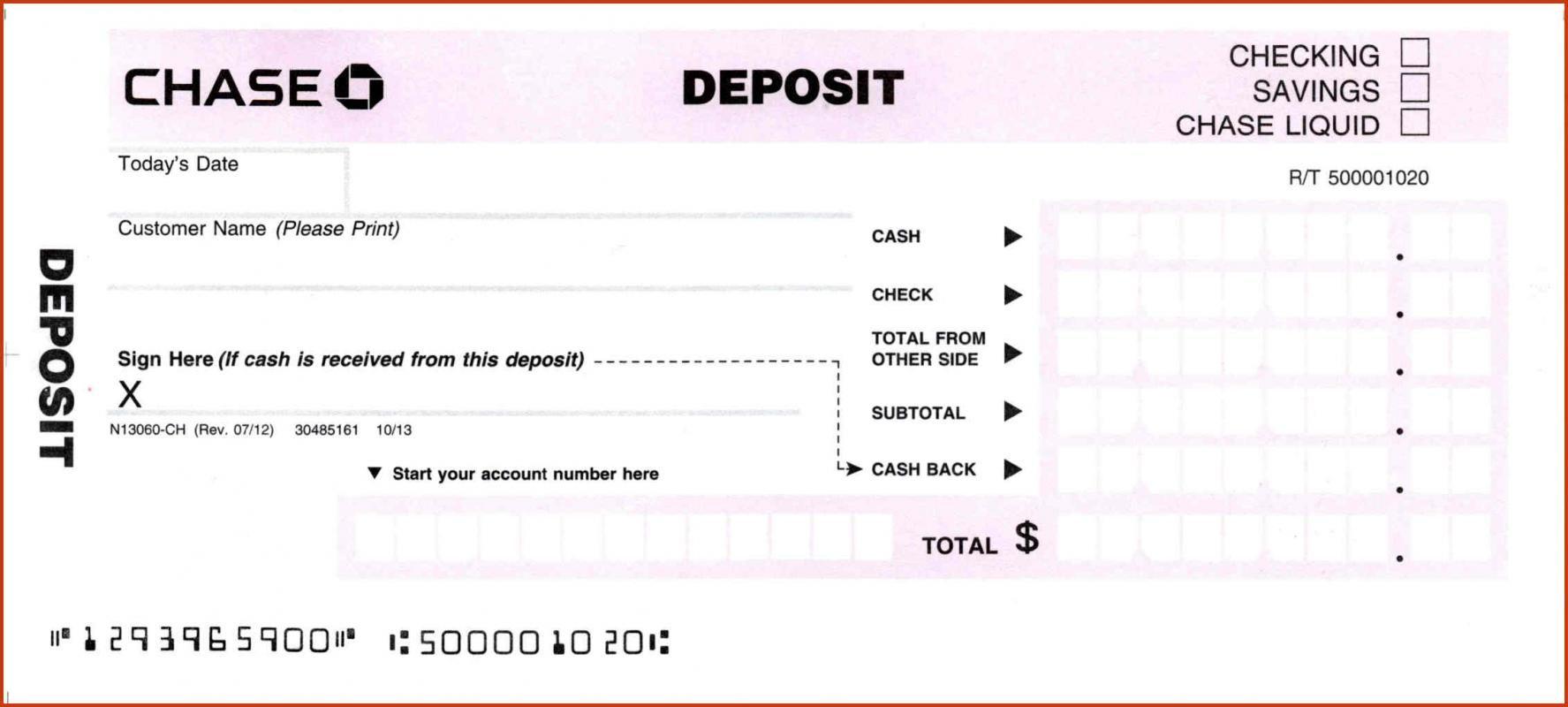 Deposit Slips Template Deposit Bank Deposit Templates