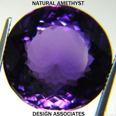 Amethyst 10192: African Amethyst Round Cut 17 Mm All Natural -> BUY IT NOW ONLY: $46.99 on eBay!