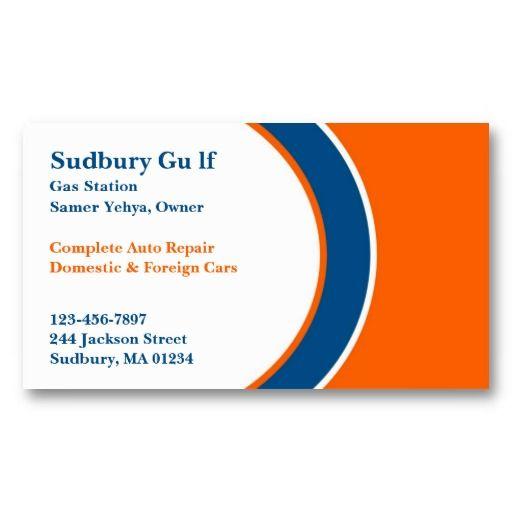 Gas Station Business Card Zazzle Com Gas Station Business Cards Business