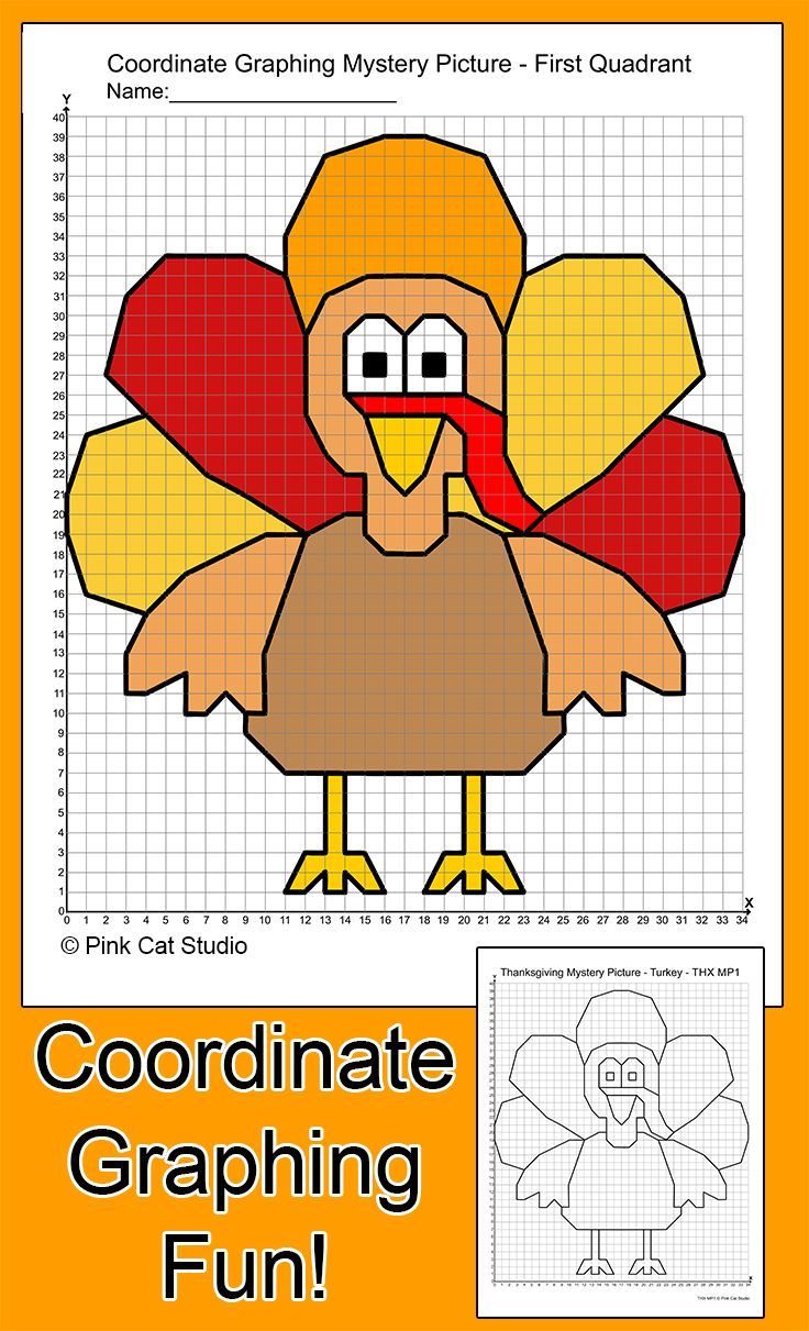 worksheet Holiday Coordinate Graphing practice plotting ordered pairs with these fun thanksgiving theme coordinate graphing mystery pictures use them