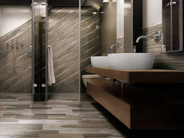 italian ceramic granite floor tiles from cerdomus imitating wood flooring - Modern Bathroom Tile Designs