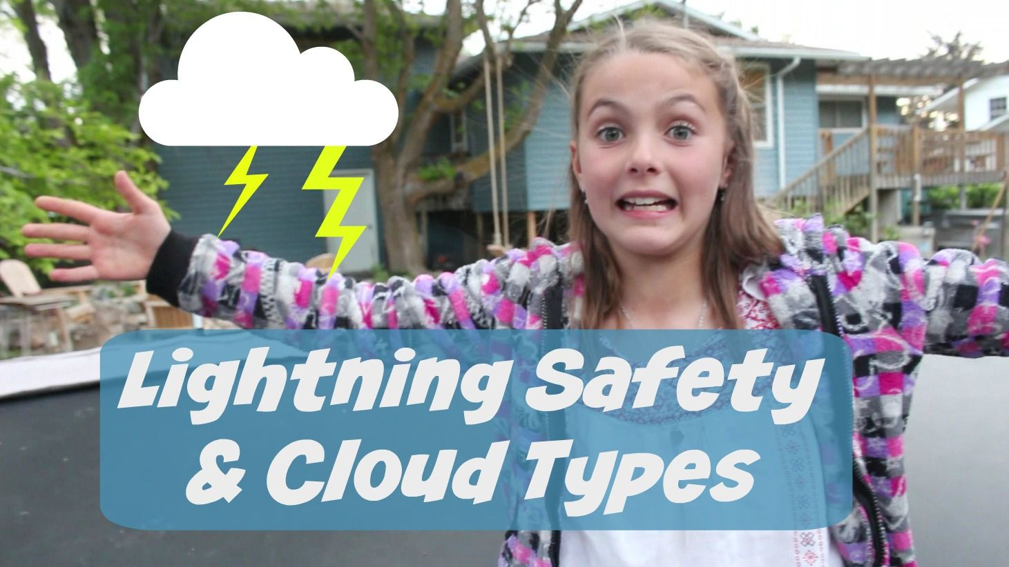 Great videos and links to help educate kids about lightning safety and the different types of clouds. #outdoors #nature #safety #kids #homeschool #lightning #clouds
