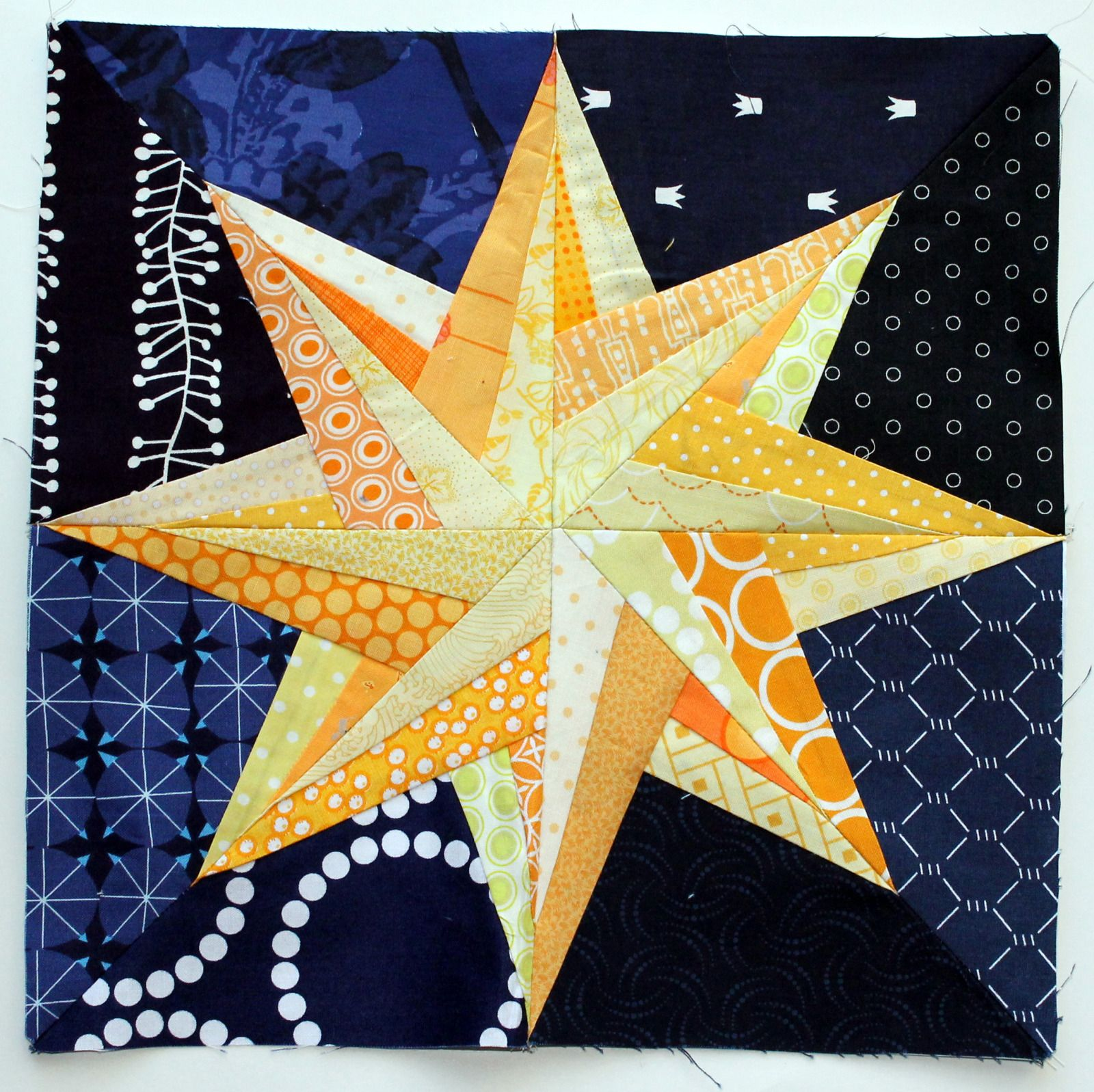 Starry Night Paper Piecing Monday Seren Pinterest