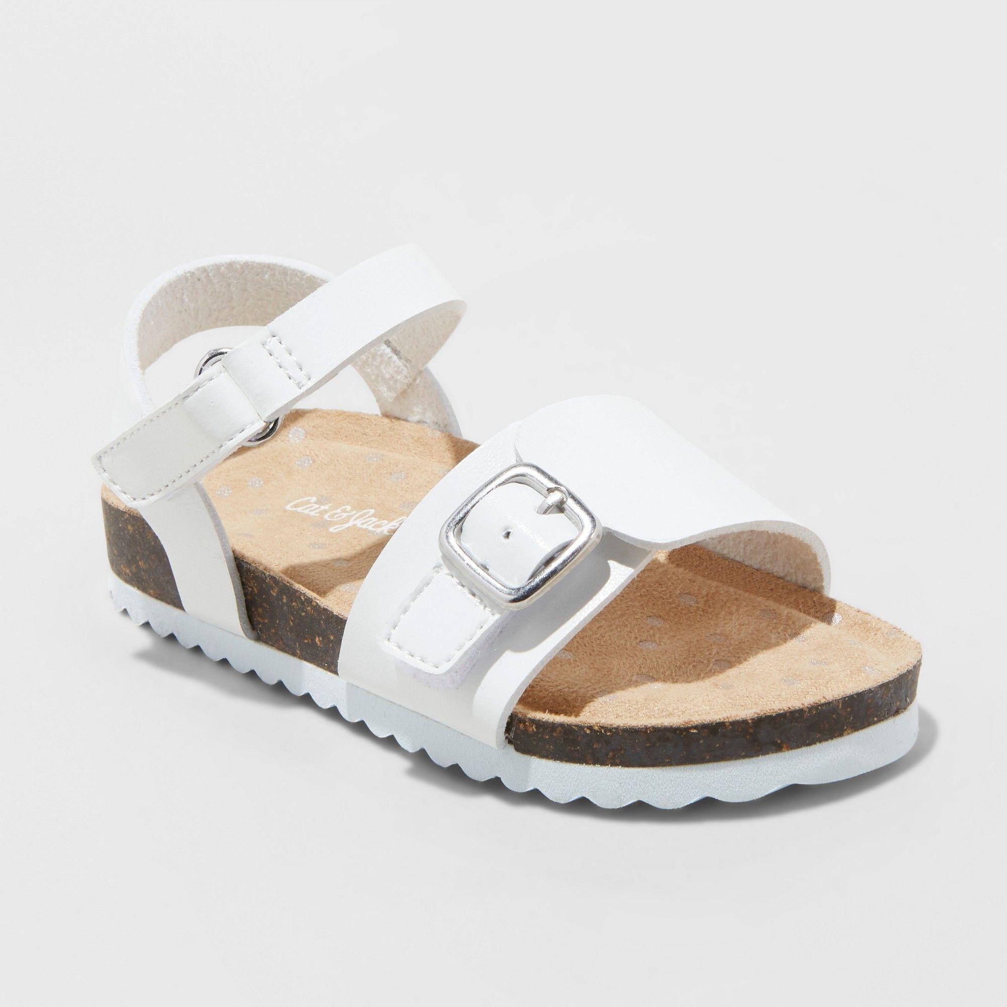 0c2e61cf811b Toddler Girls  Berdie Comfort Foodbed Sandals - Cat   Jack White 11 ...