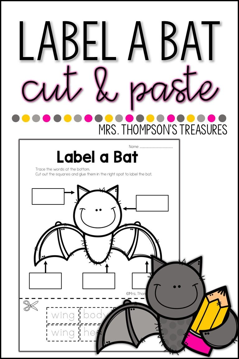 Label a Bat  If you are studying bats this fall be sure you include this fun label a bat activity! This trace cut and paste worksheet is simple enough for kindergartners but also great for 1st and 2nd graders to practice labeling. Print copies and add it in your science center or combine it with a story like ... Read More about Label a Bat  The post Label a Bat appeared first on Classroom Freebies.