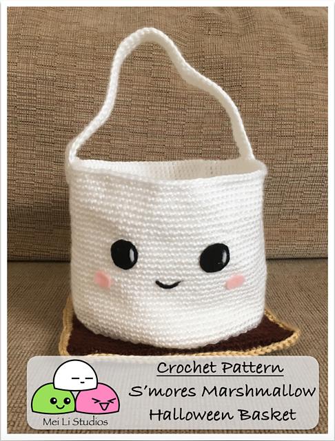 S\'mores Marshmallow Halloween Basket pattern by Mei Li Studios ...