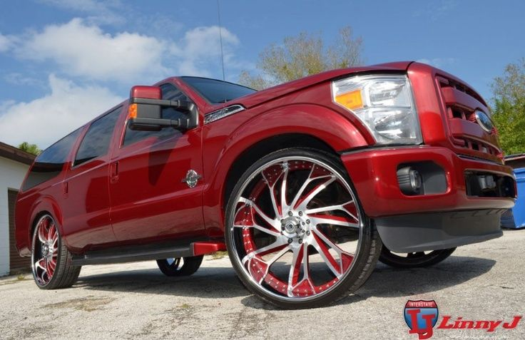 30 Asanti S On This Bad Boy Check Out All Of Our 30 Inch Wheel And Tire Packages Here Http Www Wheelhero Co Ford Excursion Hot Rods Cars Muscle Excursions