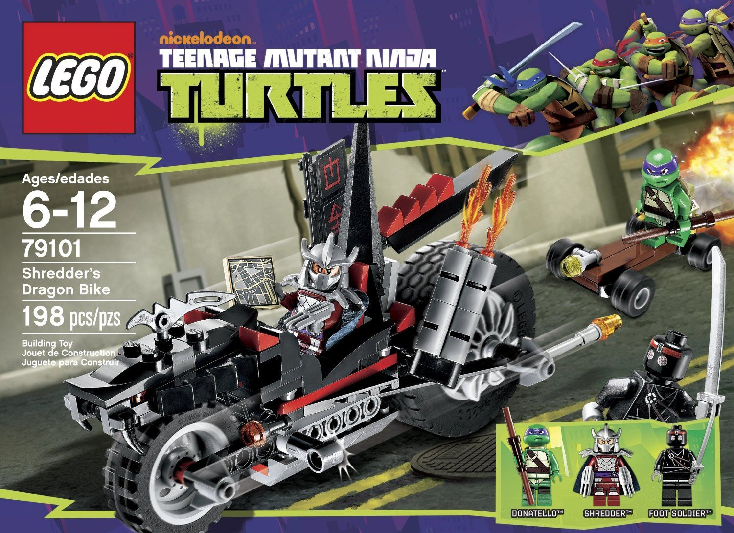 LEGO Teenage Mutant Ninja Turtles 79101 SHREDDER/'s DRAGON BIKE NO Figures NEW
