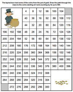 Números Del 1 Al 300 Math Maze Math Math Numbers
