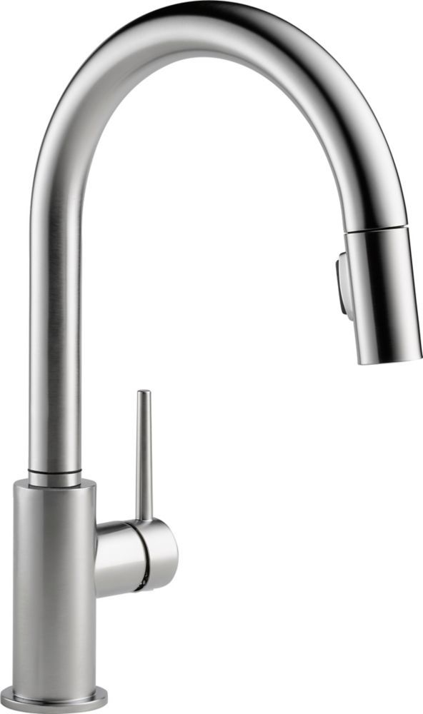 Trinsic Single Handle Pull Down Sprayer Kitchen Faucet In Arctic