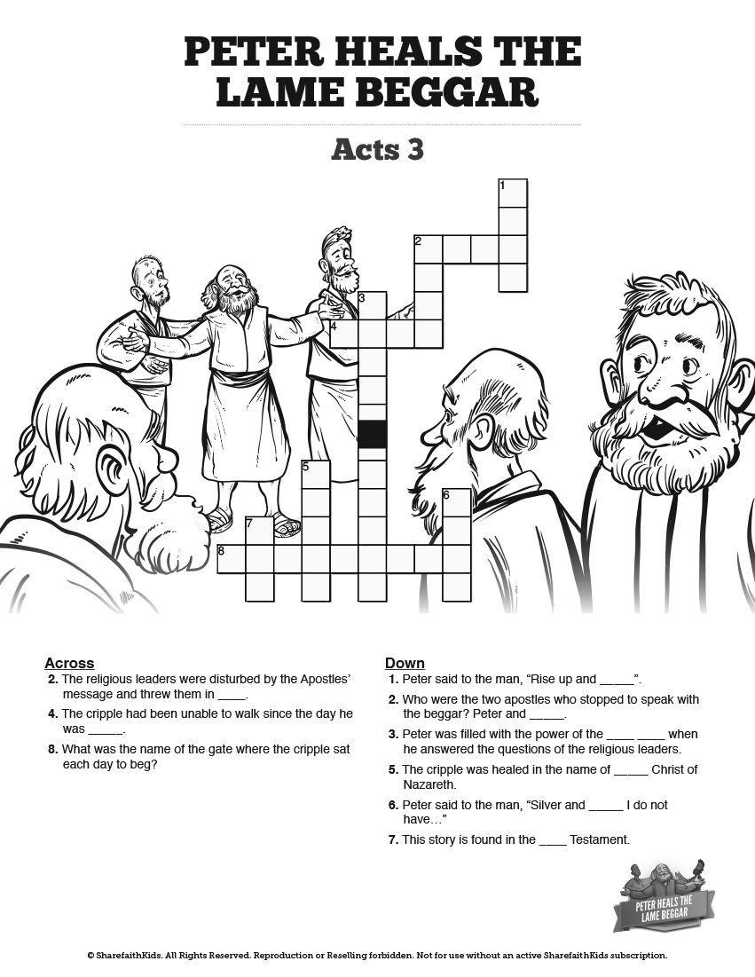 20+ Peter and john heal lame man coloring page download HD