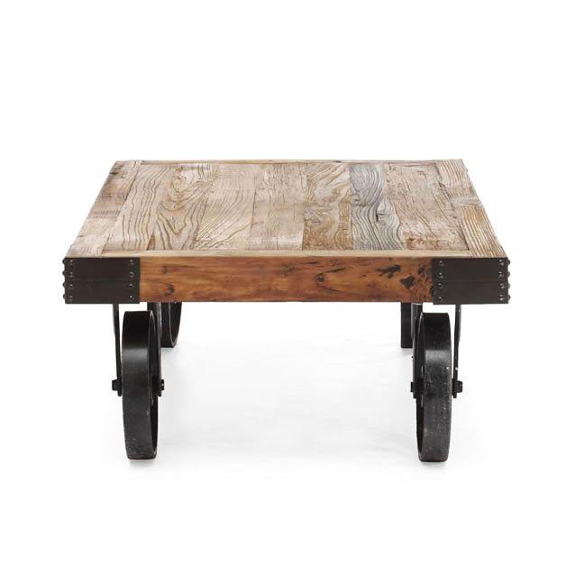 Metal And Wood Cart Table | Dotandbo.com...Can You Imagine How