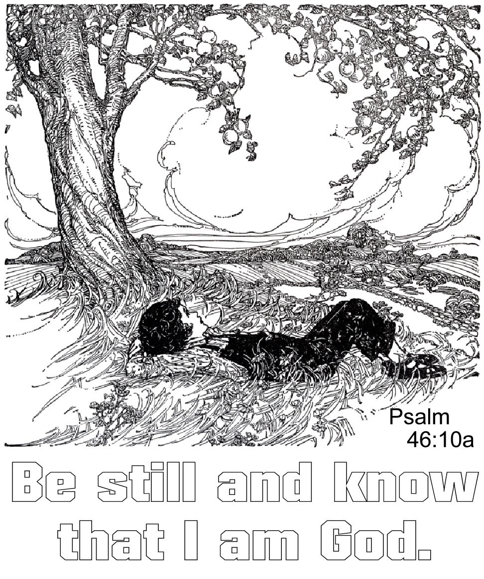 Be Still And Know That I Am God Psalm 46 10a Bible Coloring Pages
