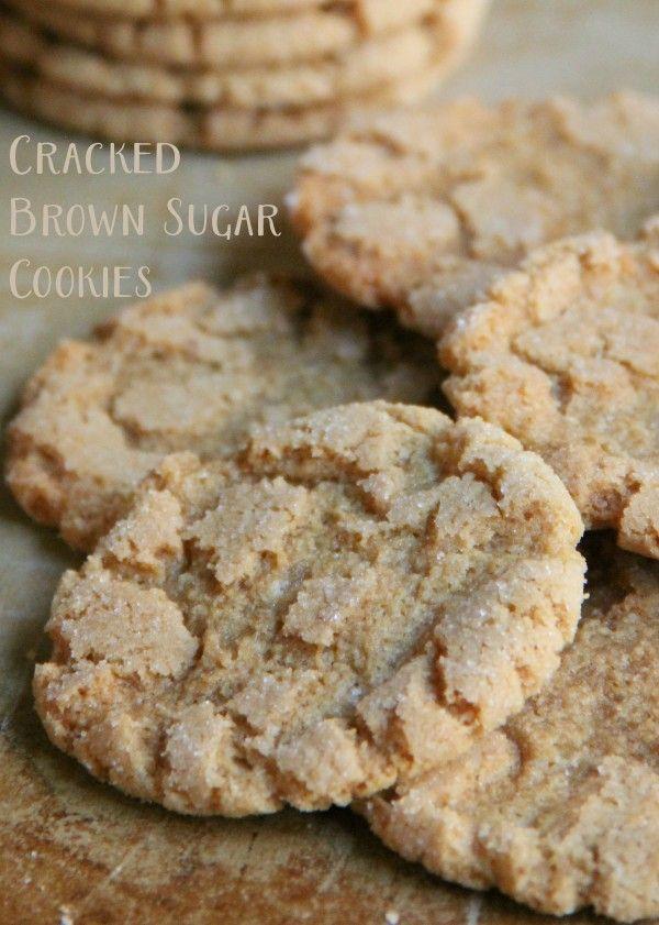 Cracked Brown Sugar Cookies #sugarcookies