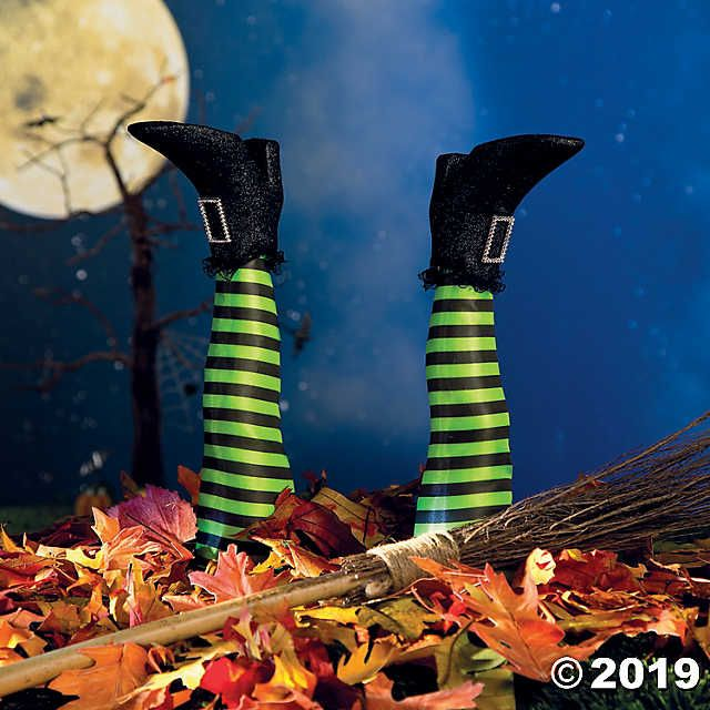Witch's Legs Yard Stakes Halloween Decoration