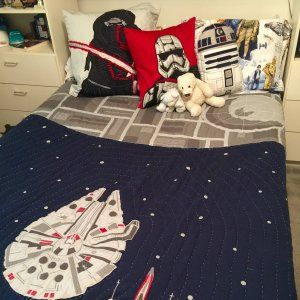 Millenium Falcon Quilted Standard Sham At Pottery Barn