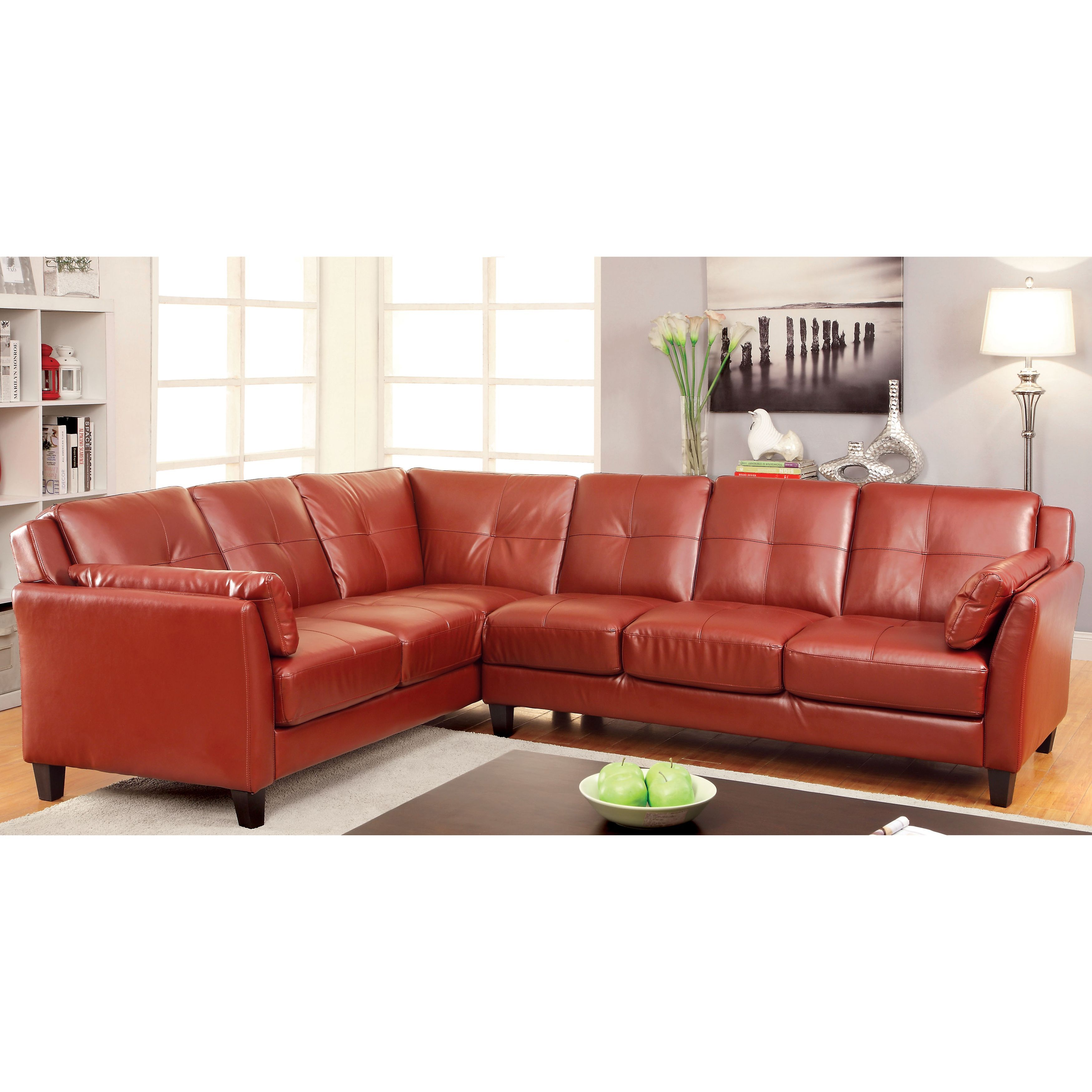 Pierson Contemporary Double Stitched Sectional by FOA ...
