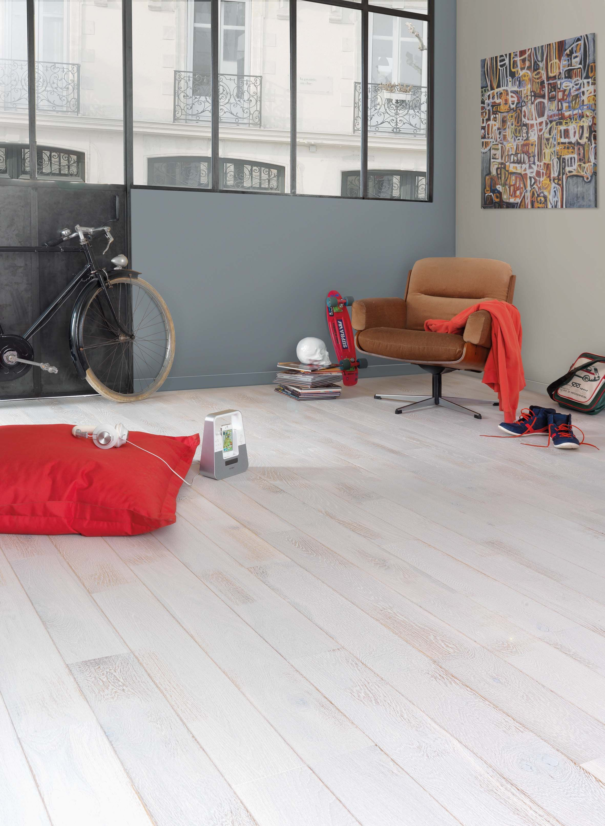 parquet vintage en ch ne blanc et us r f rence parquet flottant en ch ne shabi chaux alto. Black Bedroom Furniture Sets. Home Design Ideas