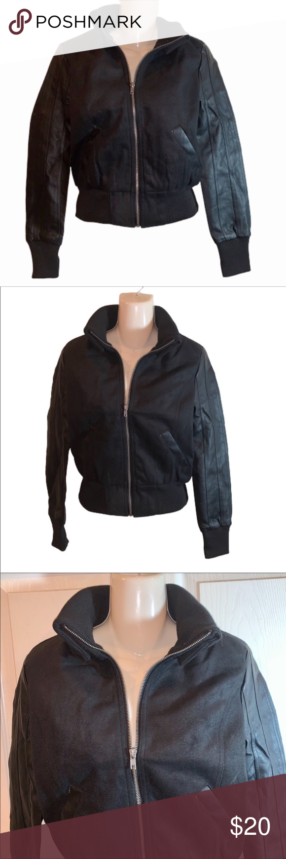 Nwt Faux Leather And Wool Bomber Jacket Nwt Ambiance Combo Jacket Faux Leather And Wool Junior Size Available In Size Wool Bomber Jacket Jackets Bomber Jacket [ 1740 x 580 Pixel ]