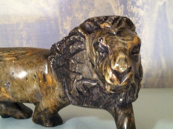 Antique and Stunning Carved Lion Made of Rock or Marble?? Found at a 50+ years hoarding sale WOW