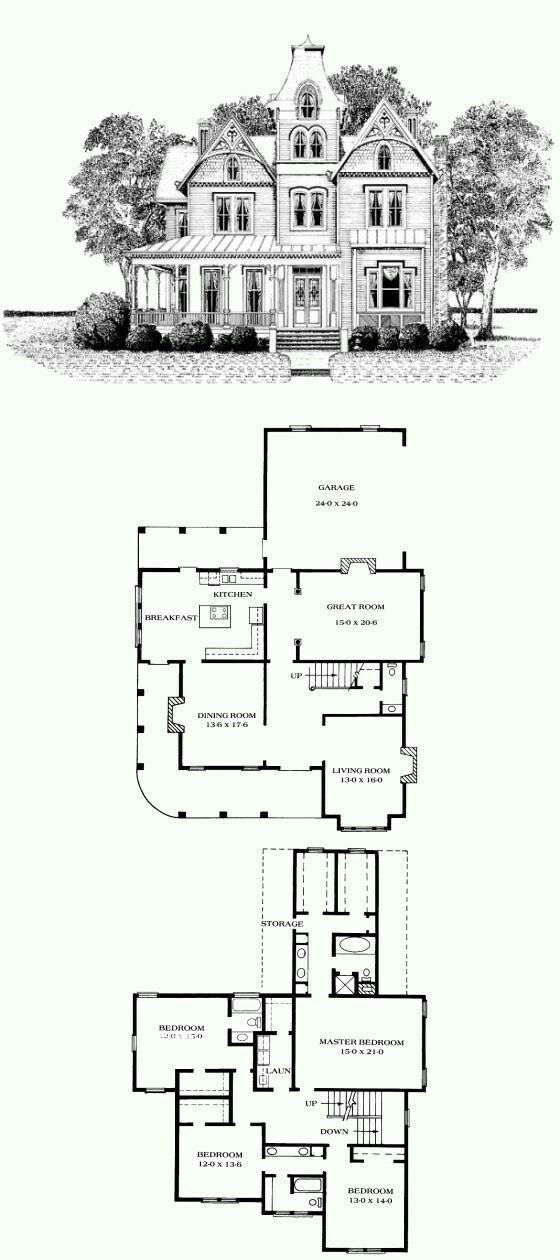 Just Like The Family Home In Jonesville Sims House Plans Vintage House Plans Victorian House Plans
