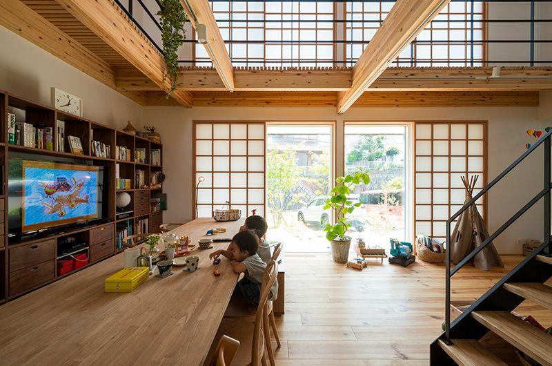 Https Www Collabohouse K Com Wp Content Uploads 2018 04 Passive Design House11 Jpg 2020 大きなダイニングテーブル 家 住宅