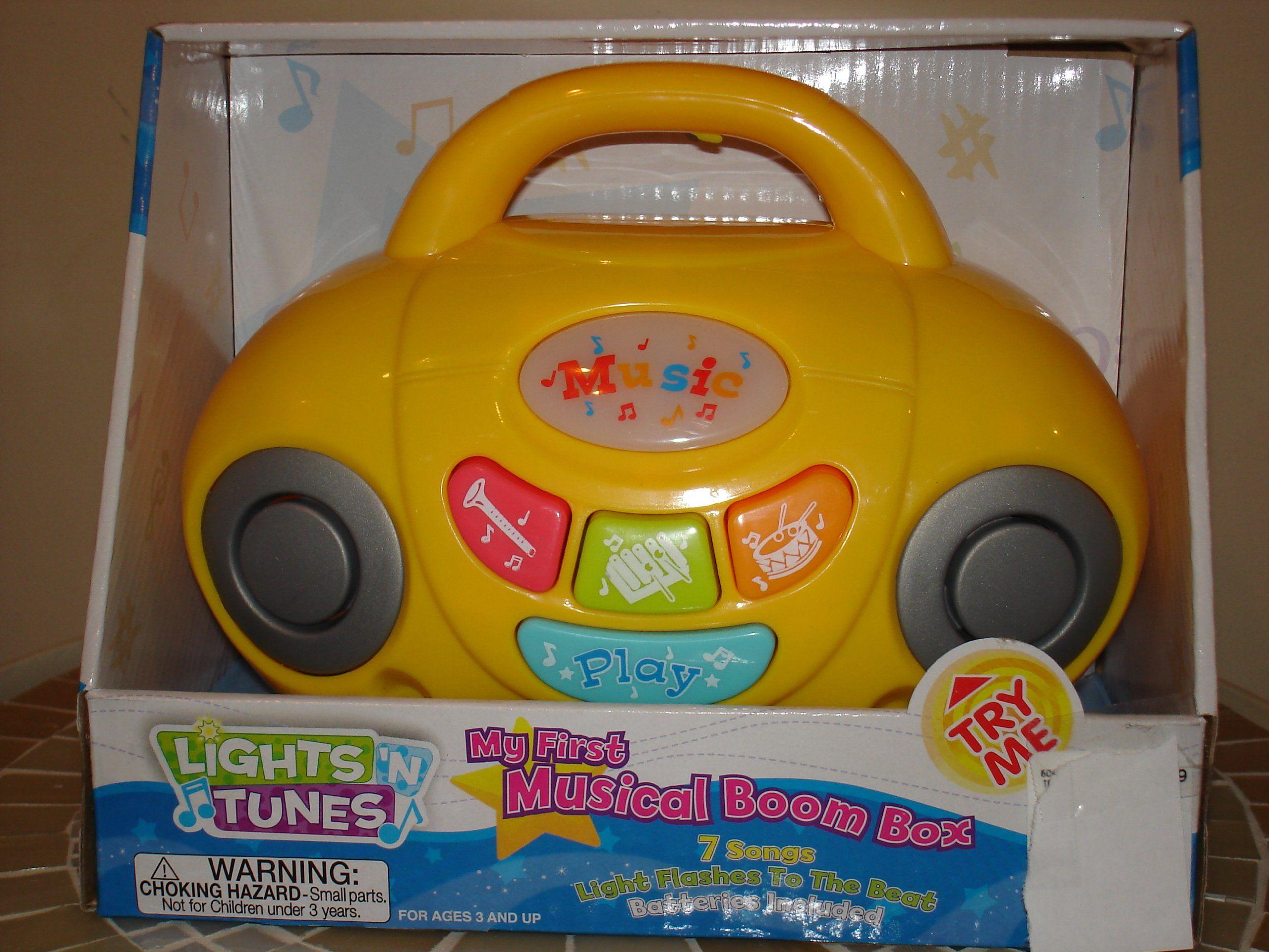 my first musical boom box
