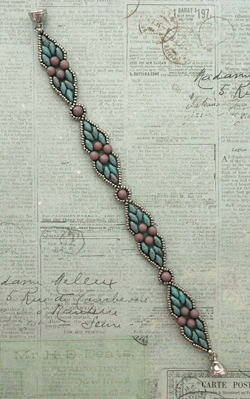 Linda's Crafty Inspirations: Dicey Diamonds Bracelet Variation
