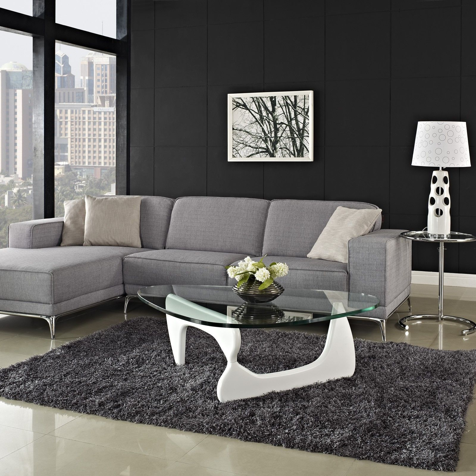 Noguchi Coffee Table White Contemporary Living Room Sets Check