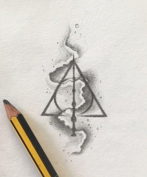 Deathly Hallows Tattoo Design Harry Potter Tattoo The Original Artist G A Miller Art Harry Potter Drawings Harry Potter Art Drawings Harry Potter Tattoo