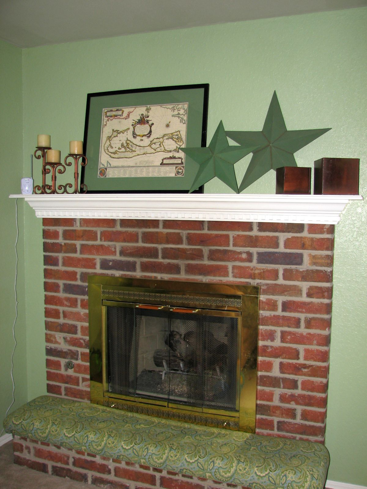 DIY Upholstered Fireplace Cushion | new home | Pinterest | Clever ...
