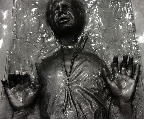"""The very Best in Movie Merchandise"" Han Solo in Carbonite by San Diego Shooter, via Flickr"