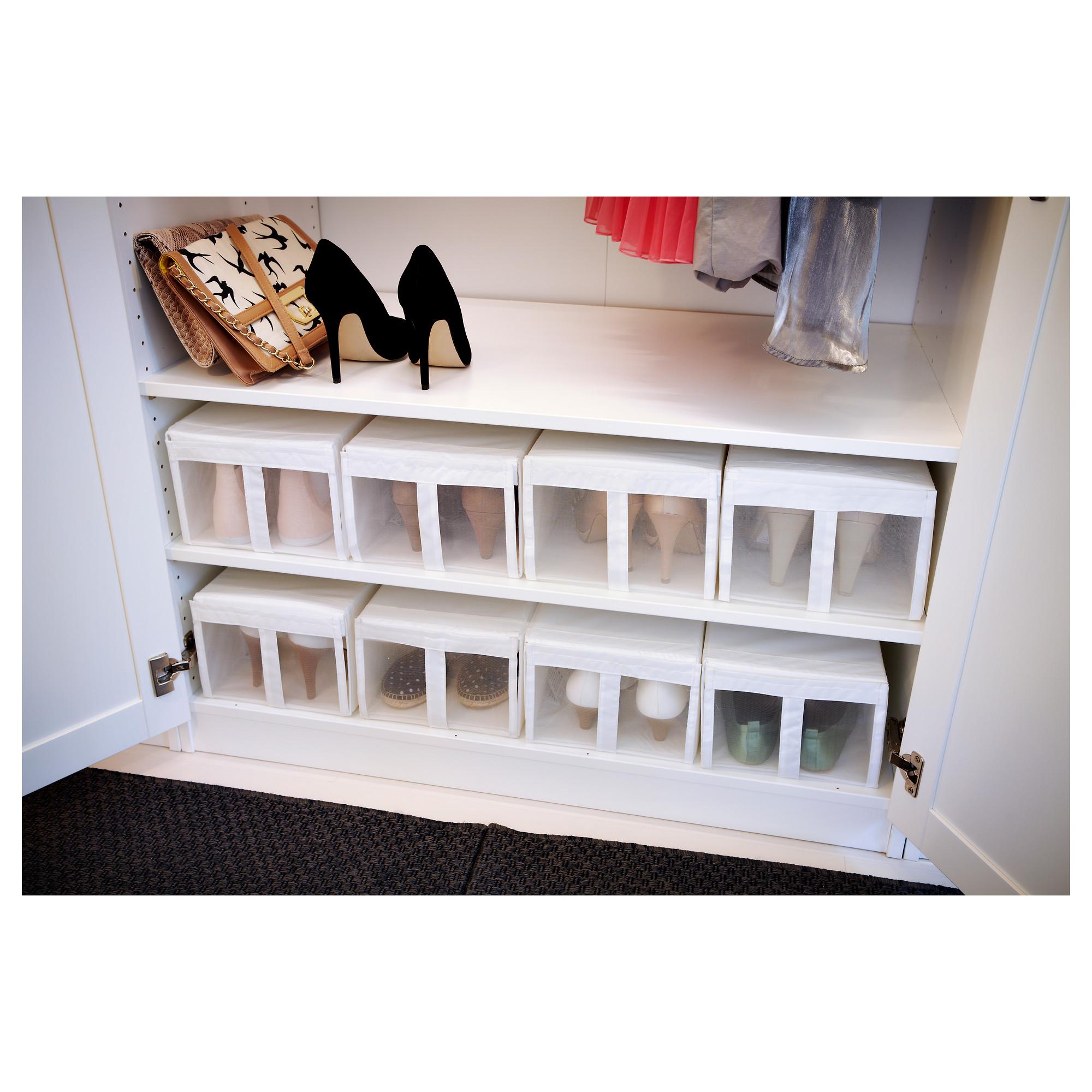 IKEA SKUBB Shoe box white Ikea, Shoe box, Ikea wardrobe