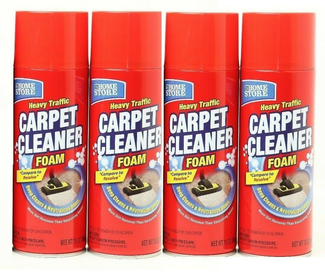 4 Pack New Foam Carpet Cleaner Home Store Heavy Shampooing Cleaning Spray 13oz In 2020 Carpet Cleaners Cleaning Spray Cleaners