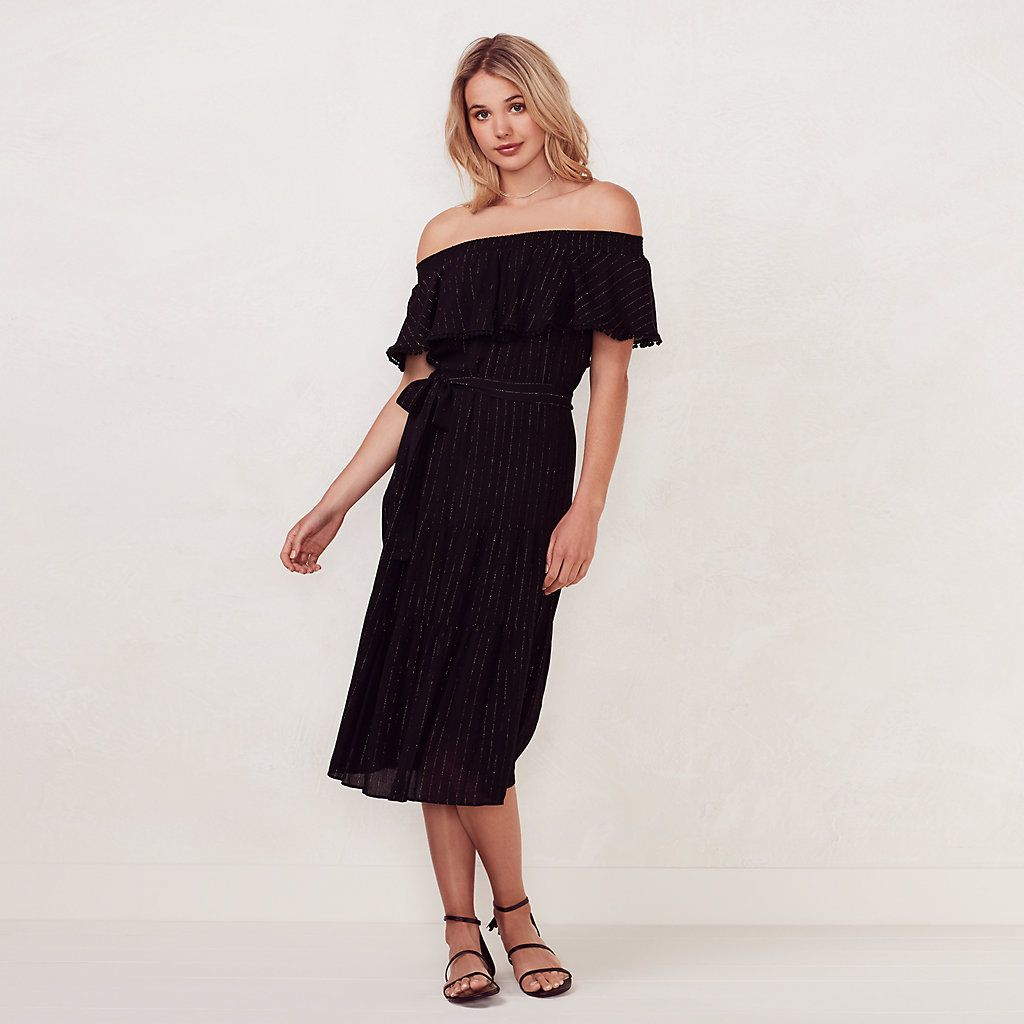 Women\'s LC Lauren Conrad Beach Shop Off-the-Shoulder Midi Dress ...