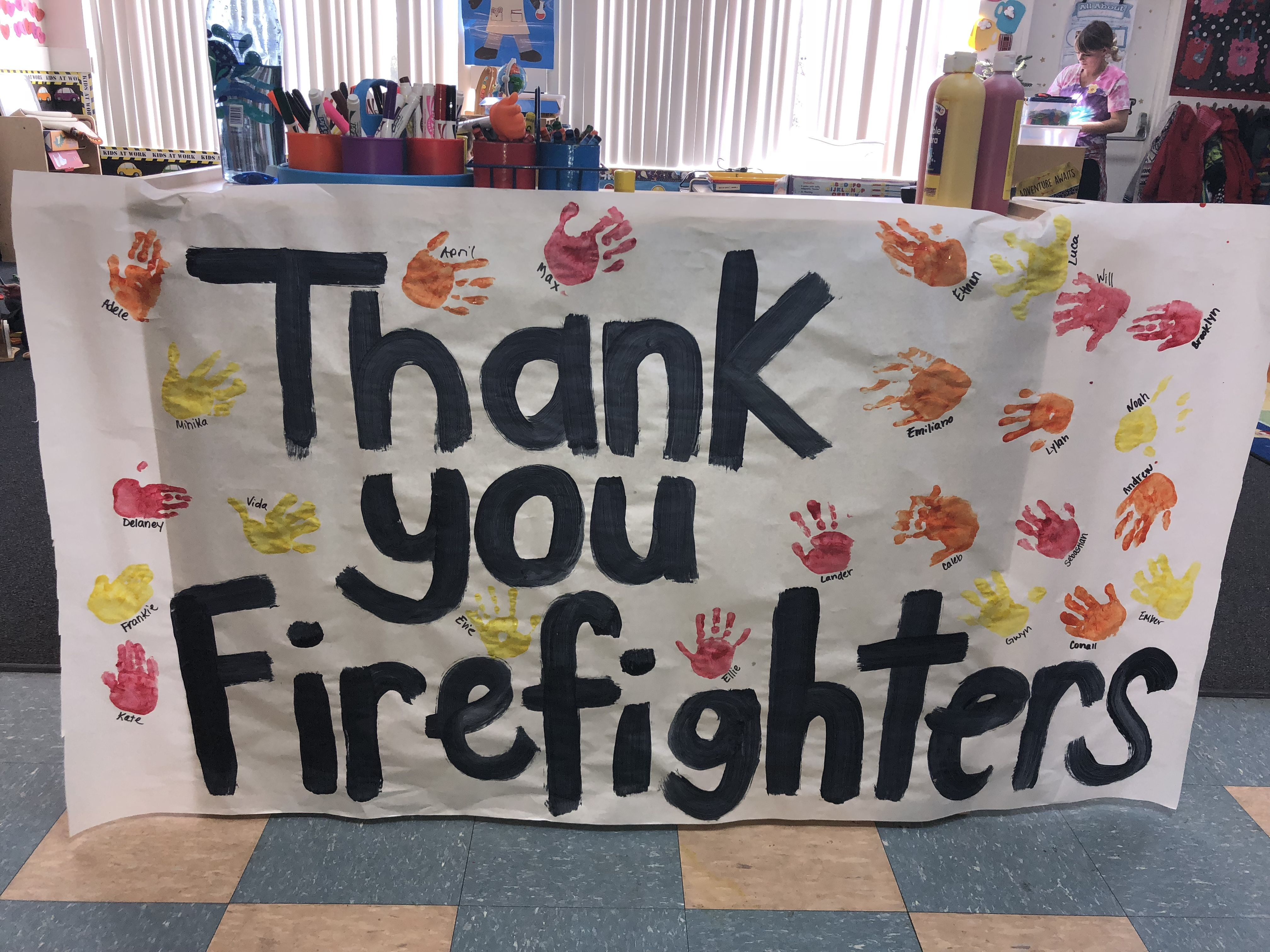 Thank You To Our Firefighters From Our Students For