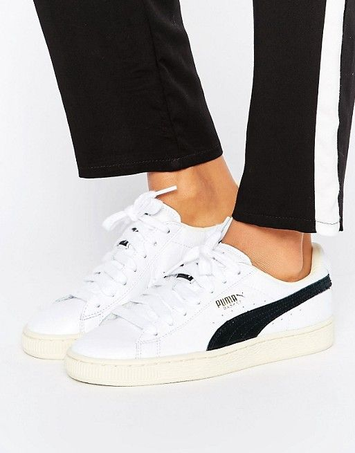 6cd7d6afcae Puma Basket Classic Sneakers In White And Black