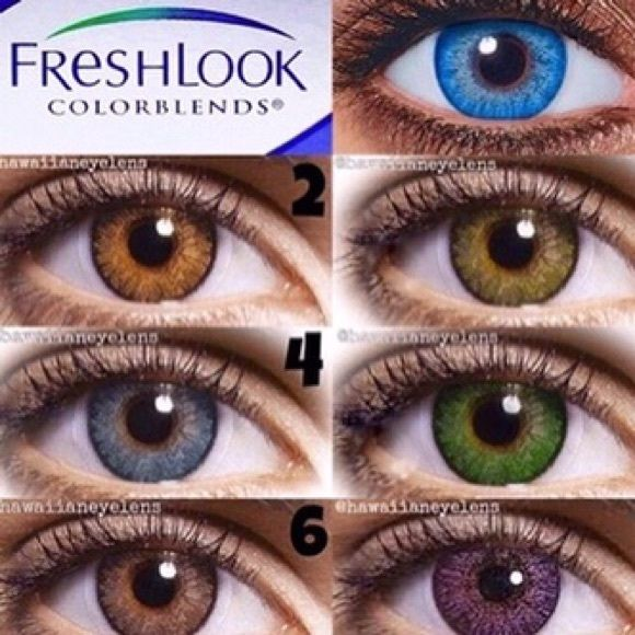 Fresh Look Non Rx Colored Contacts Eye Kandi Cosmetic Colored Contact Lenses Available In 5 Colors And Eye Contact Lenses Circle Contact Lenses Contact Lenses