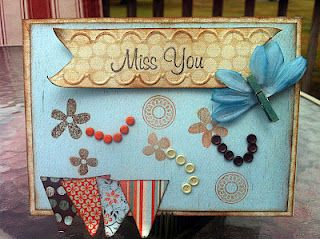Gathering by Authentique - Miss You Card