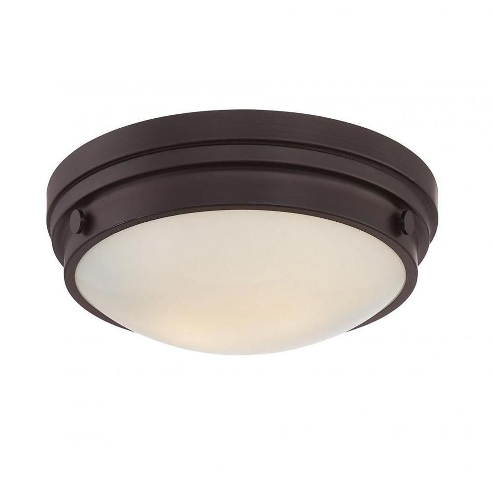 Light English Bronze Flush Mount