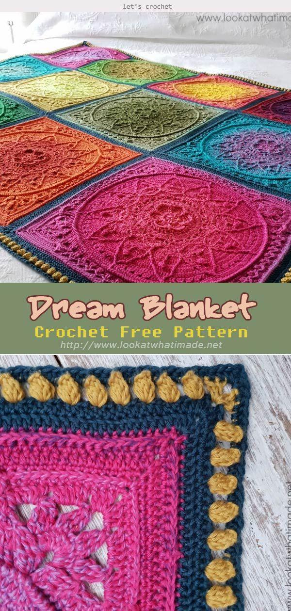 Dream Blanket Crochet Free Pattern Kostenlose Muster Hakeln