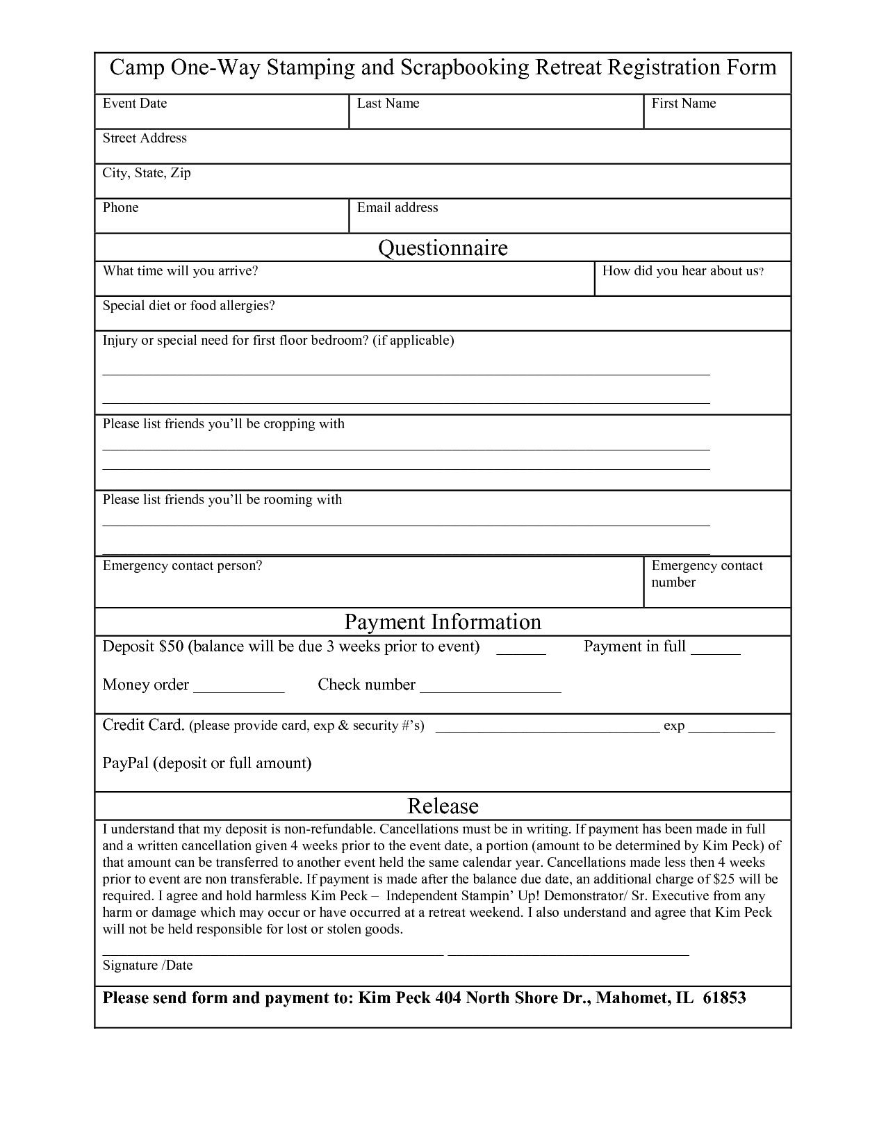 Free Registration Form Template Word Want a FREE refresher ...