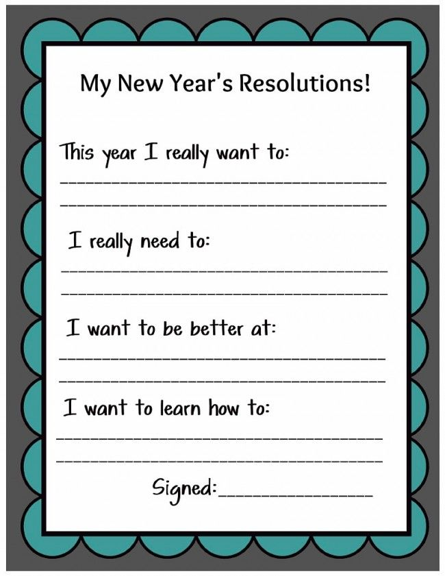 New Years Resolutions 2 650x841 Family New Years Eve New Years Resolution Kids New Years Activities