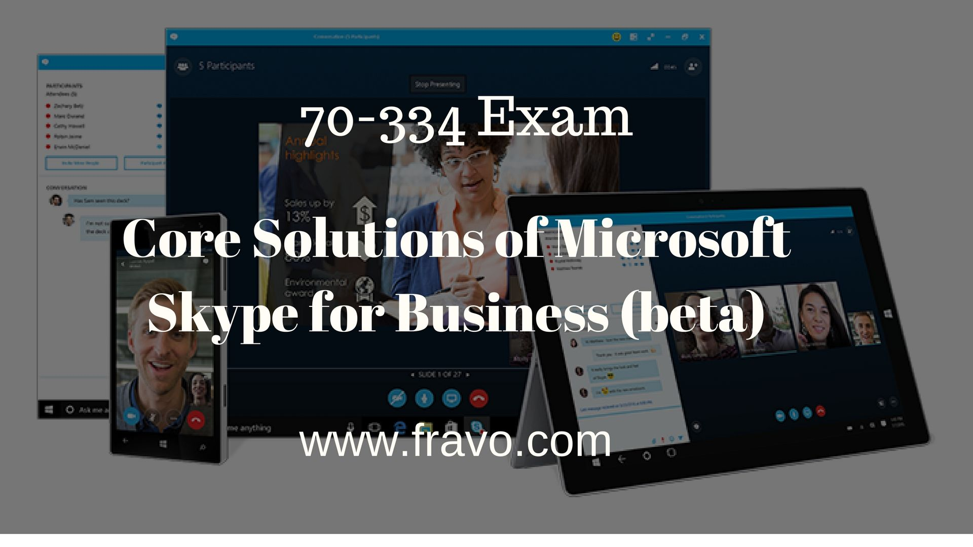 Pass Core Solutions Of Microsoft Skype For Business Beta 70 334