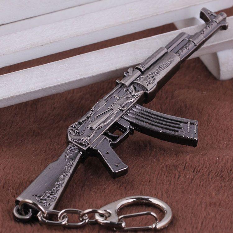 15 스타일 CSGO AK47 AWP 독수리 무기 금속 열쇠 고리 삼중 수소 열쇠 고리 키 홀더 Chaveiros 간이 포르테 음자리표 CS 이동 총 키