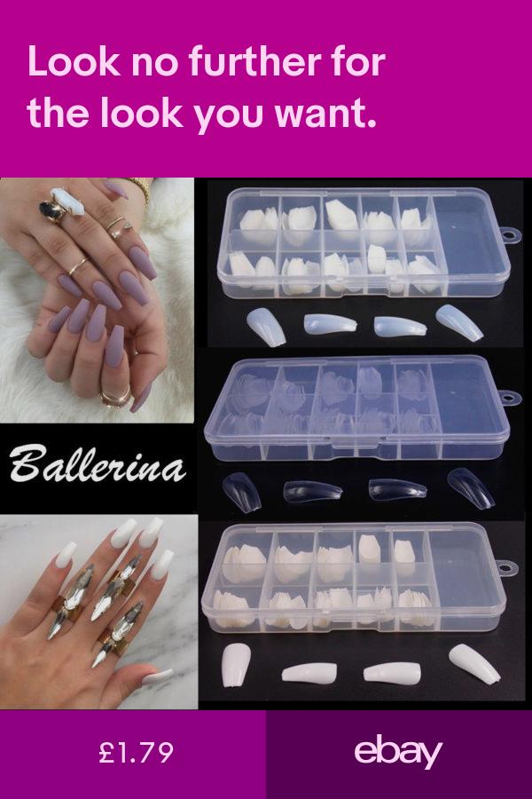 Artificial Nail Tips Health Beauty Ebay Nail Art Hacks Fake Nails Diy Coffin Shape Nails