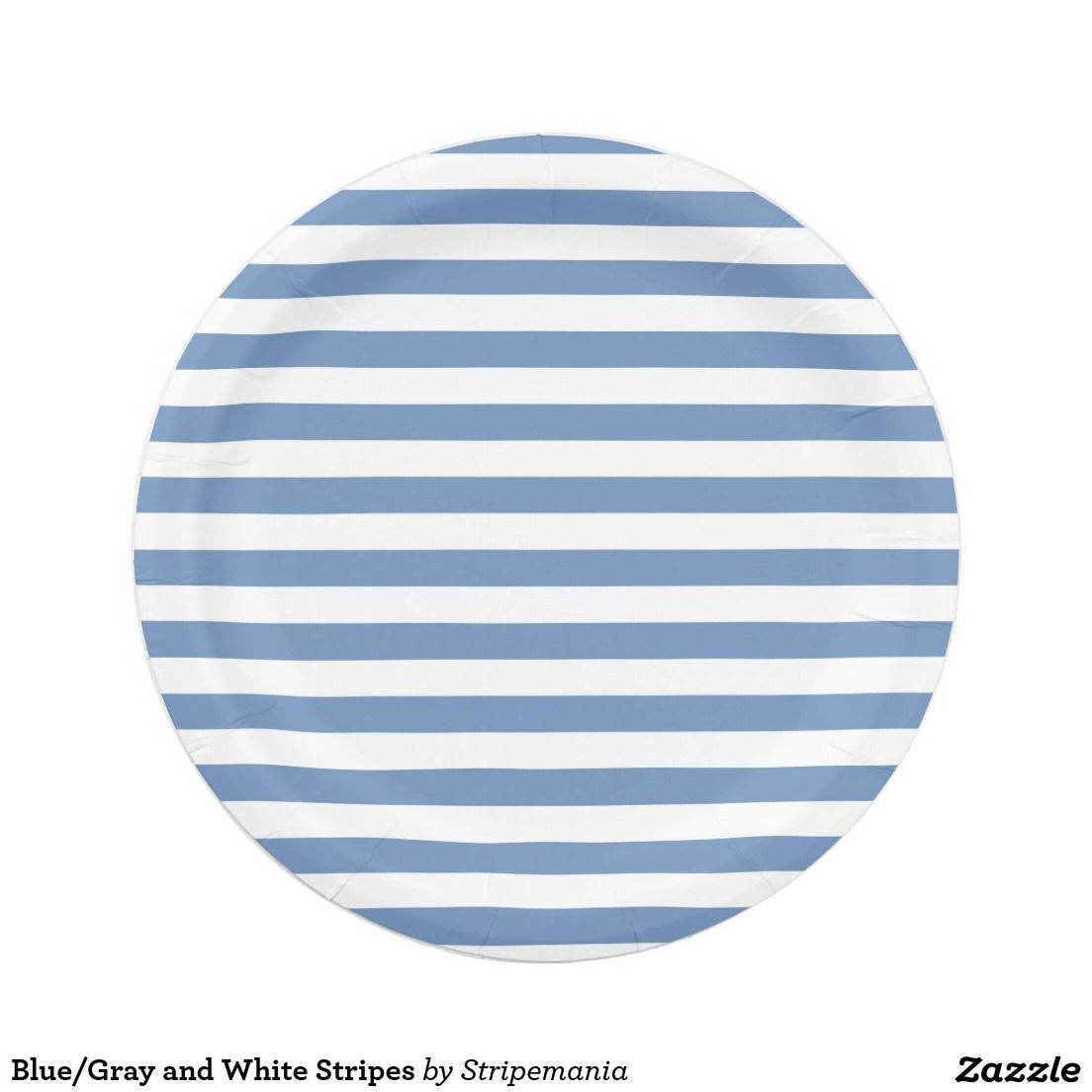Blue/Gray and White Stripes Paper Plate  sc 1 st  Pinterest & Blue/Gray and White Stripes Paper Plate | Blue grey and Products