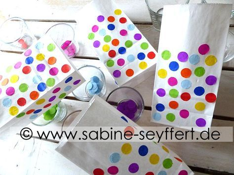 Diy Bastelidee Zum Kindergeburtstag Bunte Deko Konfetti Lichter