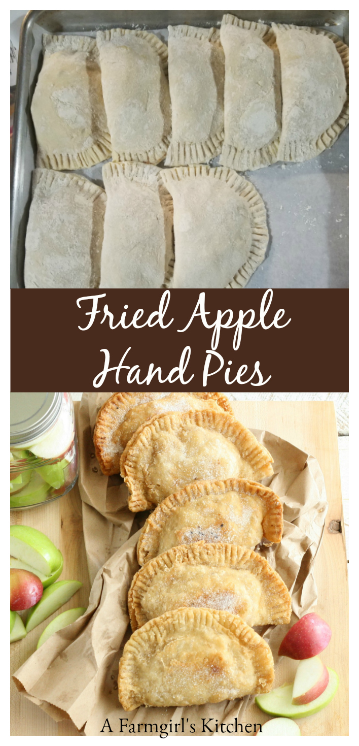 These Southern Fried Apple Hand Pies are easy to make using either homemade or store bought pie crust or biscuit dough. Make them the day before and fry them up fresh in the morning for a wonderful treat! #recipe #applepie #handpies #apples #pie #pastry #applepie