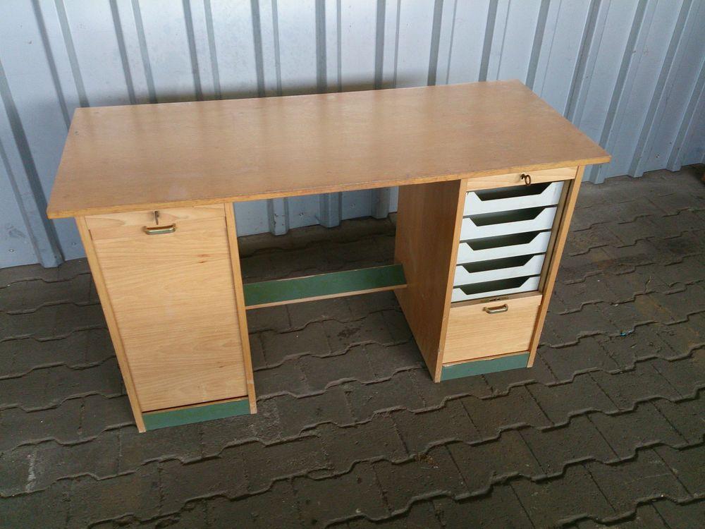 schreibtisch rolladen rolladenschrank 50er damenschreibtisch sekret r desk working space f r. Black Bedroom Furniture Sets. Home Design Ideas